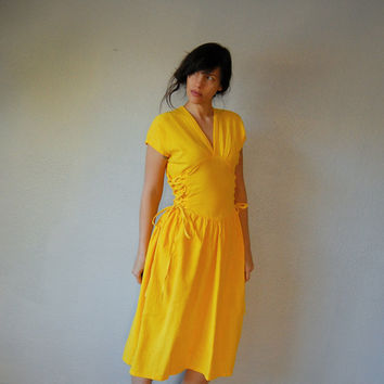 80s good morning sunshine / goldenrod yellow by vintagemarmalade