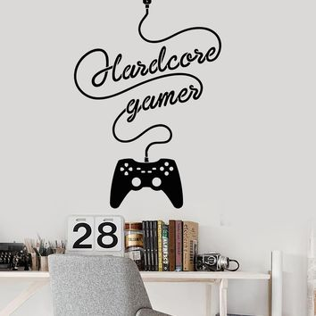 Vinyl Wall Decal Gamer Joystick Video Game Children's Room Stickers Unique Gift (ig3323)