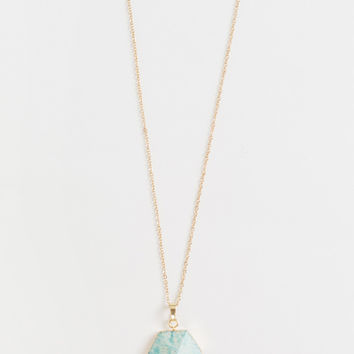 Harlow Turquoise Pendant Necklace