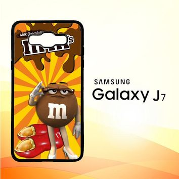 Chocolate Candy M&M Y2361 Samsung Galaxy J7 Edition 2015 SM-J700 Case