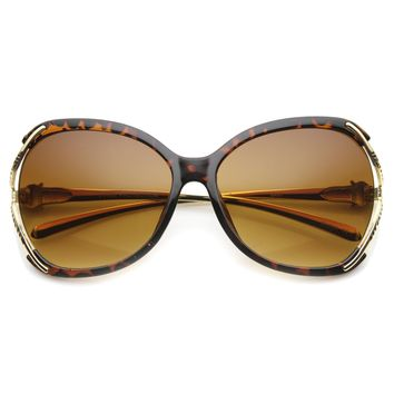 Women's Oversize Jaguar Studded Butterfly Sunglasses 9803