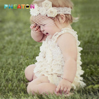 Straps Ribbon Bow Baby Rompers Lace Ruffle Baby Clothes Toddler Girls Fashion Romper Colorful Baby Costume