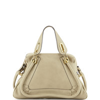 Paraty Medium Satchel Bag, Light Green - Chloe
