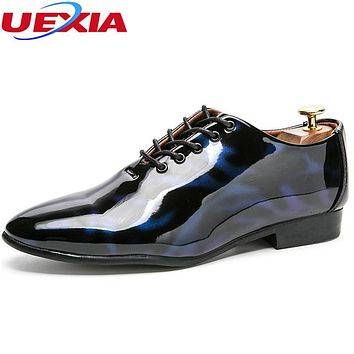 UEXIA Fashion Wedding Dress Shoes Men Flats Business Lace-up Lace Up Modern Party Formal Footwear Shoes High Quality Oxford Shoe