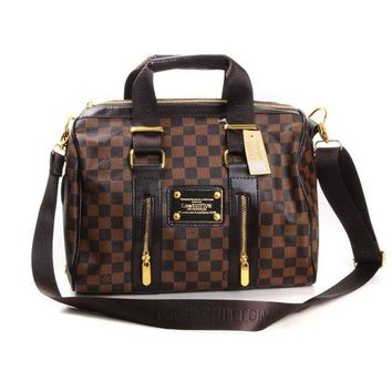 Louis Vuitton LV Fashion Leather Crossbody Tote Satchel Shoulder Bag Handbag