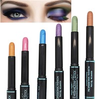 12 Colors Waterproof Smoky Eyeshadow Pen Stick Eye Camouflage Makeup Cream Metallic Eye Shadow Palette Liner Pencil Cosmetics