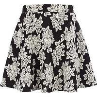 Girls black floral jacquard skater dress - skirts - girls
