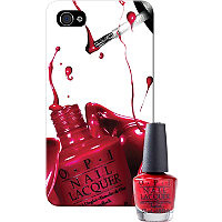 OPI Online Only IPhone 4/4S Case with Matching Mini Nail Lacquer I'm Not Really A Waitress Ulta.com - Cosmetics, Fragrance, Salon and Beauty Gifts