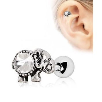 316L Stainless Steel Elephant Cartilage Earring