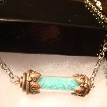 Glow in the Dark Glass Woodland Vial Bottle Necklace (1195)