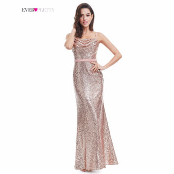 Sparkle Prom Dress Ever Pretty A Line Spaghetti Straps Floor Length EP07087RG 2017 Women Elegant Sequins Long Party Prom Gown