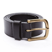 Flat Edge Leather Belt | American Apparel