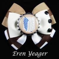Eren Yeager Hair Bow ( Attack on Titan )