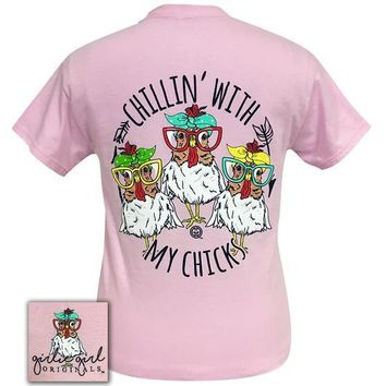 Chillin' With My Chicks - Chickens - GG - Adult T-Shirt
