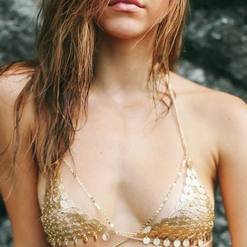Reflecting Chain Bra - Gold