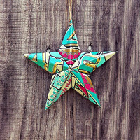 Upcycled Arizona Iced Tea Can Star Ornament