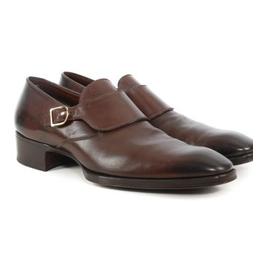 Tom Ford Brown Monk Strap Shoes