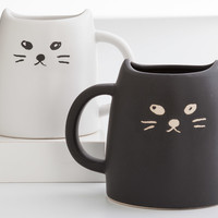 Ceramic Cat Mug Set