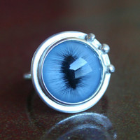 Super Unique Large Cat Eye Ring Steampunk Industrial Eye-Catching Blue, Green, Yellow, Any Size