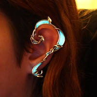 Ear Cuff Climbing Leaves GLOW in the DARK