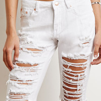 Distressed Bermuda Shorts