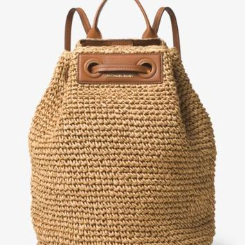 Krissy Large Straw Backpack | Michael Kors