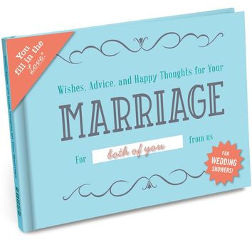 Wishes, Advice & Happy Thoughts for Your Marriage Wedding Shower Fill in the Love Journal