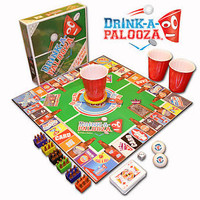 DRINK-A-PALOOZA Adult Drinking Games GIFTS for men BEER PONG table 21st birthday