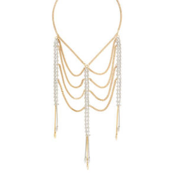 Mixed Metal Necklace in Grey/Gold - BCBGeneration