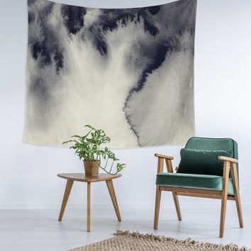 Cloudy Grey Smoky Wall Tapestry