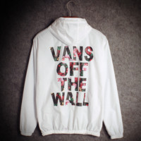 Vans Fashion Hooded Zipper Cardigan Sweatshirt Jacket Coat Windbreaker Sportswear