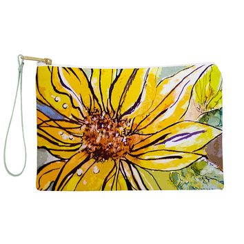 Ginette Fine Art Sunflower Yellow Ribbon Pouch