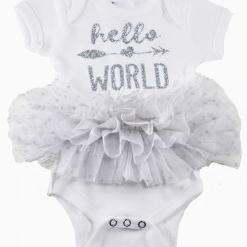 Girl's Hello World Tutu