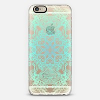 Vintage Fancy - mint & aqua on transparent iPhone 6 case by Micklyn Le Feuvre | Casetify