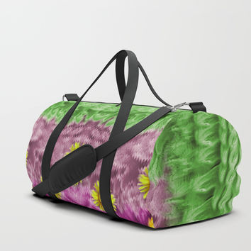 Sun flowers in the fields of love Duffle Bag by Pepita Selles