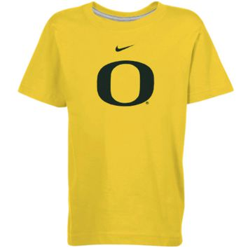 Nike Oregon Ducks Youth Classic Logo Ringspun T-Shirt - Yellow - http://www.shareasale.com/m-pr.cfm?merchantID=7124&userID=1042934&productID=543383448 / Oregon Ducks