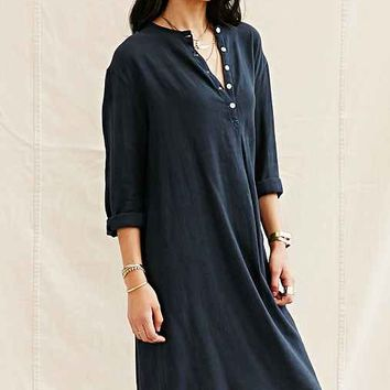 Auntie Oti Smock Dress- Black