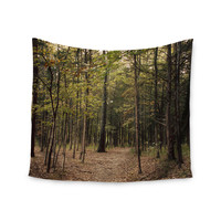 "Sylvia Coomes ""Forest Trees"" Green Brown Wall Tapestry"