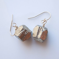Pyrite Earrings : Fools Gold Jewelry