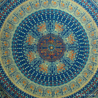 Blue Indian Bird Paradise Hippie Mandala Tapestry Wall Hanging Bedspread