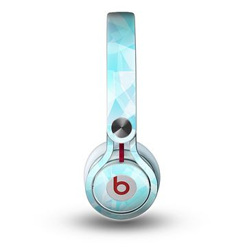 The Vector Abstract Shaped Blue Overlay Skin for the Beats by Dre Mixr Headphones