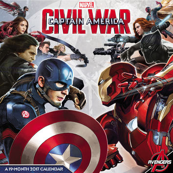 2017 Captain America Civil War Wall Calendar