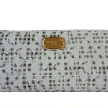 Michael Kors Jet Set Travel Zip Around Signature Wallet Clutch