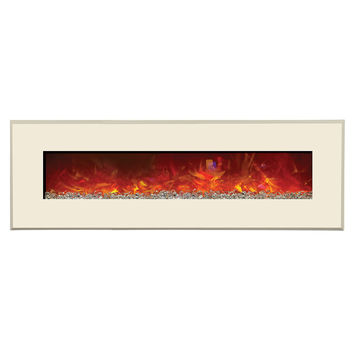Amantii Designer Built-in/Wall Mount Electric Fireplace (WM-BI-58-6421)