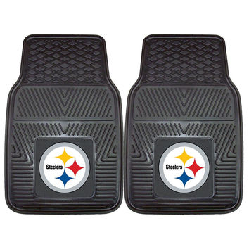 Pittsburgh Steelers NFL Heavy Duty 2-Piece Vinyl Car Mats (18x27)