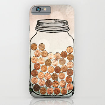 Lucky Pennies iPhone & iPod Case by Jenndalyn