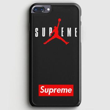 Supreme X Jordan Black iPhone 8 Plus Case