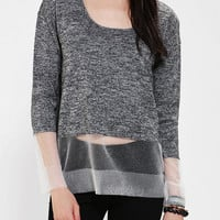 Urban Outfitters - Silence + Noise Illusion-Hem Sweater