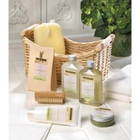 Eco Balance Lemongrass Eucalyptus Bath Spa Basket