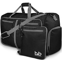 B&B 80L Extra Large Duffle Bag with Pockets - Waterproof Duffel Bag for Unisex